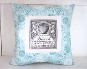 SALE HALF PRICE!!!  Decorative pillow, beach decor, turquoise pillow, shabby chic, farmhouse decor, ,beach pillowsm, accent pillows