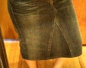 Women's  jean skirt size 4 knee length