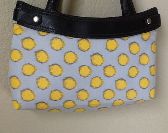 Brother sister Fabric  grey gold and dark grey 3 Skirt purse cover handmade thirty one