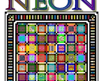 NEON - Quilt-Addicts Patchwork Quilt Pattern