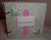 Pre-made Girl's First Communion Keepsake scrapbook