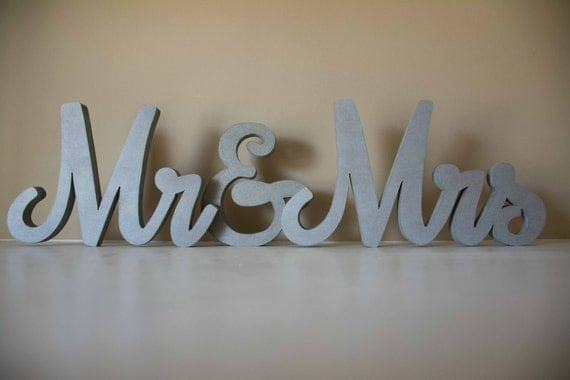 Mr and Mrs Sign, Wedding Decor, Sweetheart Table, Bride Groom, Reception Decor, Bridal Shower Decor