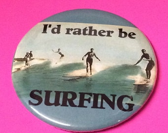 Surfing and Boating pinback buttons, magnets, keychains and pocket mirrors