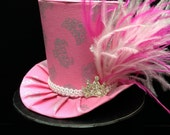 Pretty in Pink Princess Mini Top Hat.  Great for Birthday Parties, Tea Parties, Photo Prop and Much More...