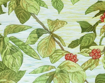 Summer Dogwood - Yosemite Fine Art Linocut Print, Original Art, 13-Color 12x12, Hand-carved, Hand-Pulled Spring Greens, Coral Red Berries