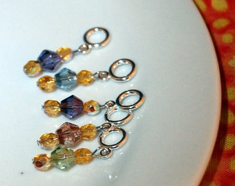 Ooh Shiny Multicolor Sock Stitch Markers