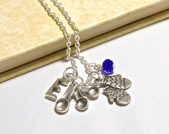 Personalized Cook Necklace with Your Initial and Birthstone - SP141