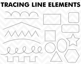 80% OFF Sale Clipart Tracing Elements Trace Lines Teacher Clip Art  Commercial Use