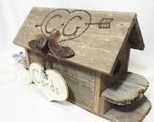 Wedding Card Box Birdhouse - Unique Gift Card Holder For A Barn Wedding - Country Wedding Or Rustic Wedding