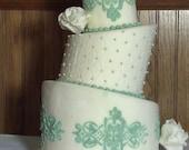 Fondant Faux 3-Tier Topsy-Turvy Cake
