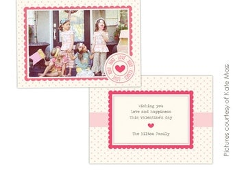 INSTANT DOWNLOAD  - Valentine Card Photoshop Template - Funny friends- E296
