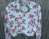 Vintage Esprit, Floral Cropped Jacket, 80/90s, Hipster