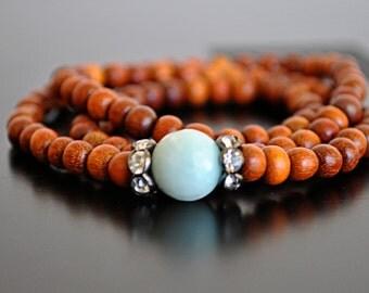 SANDALWOOD STRETCHY WRAP bracelet