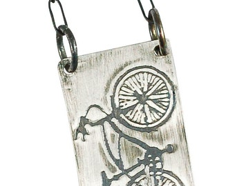 Cruiser Bicycle Necklace Sterling