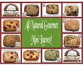 9 Gourmet Mini Loaves - You choose One Set.