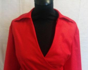 Handmade Cotton Lycra Faux Wrap Dress