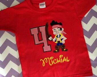 Jake and The Neverland Pirates Birthday Shirt or Onesie, Pirate Birthday Shirt, Jake Birthday Shirt