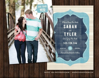 5x7 Save the Date Card Template - S20