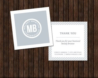 3X3 Thank You Card for Photographers - MK2C