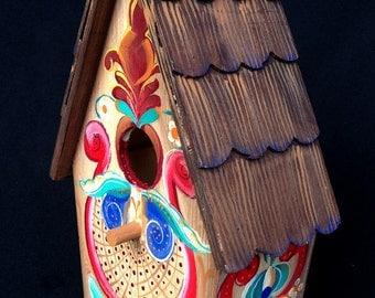 ALPINE FANTASY BIRDHOUSE, A Bavarian Inspired Fantasy Decorated Birdhouse