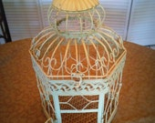 Vintage style shabby chic bird cage
