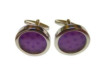Polka Dot Light Purple Colored Classic Cufflinks