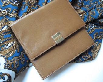 Vintage Suzy Smith Camel Colored Leather Bag Harrods London