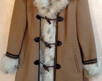Vintage wool Afgan coat size M excellent condition