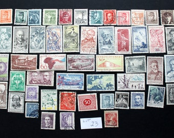 50 Vintage Stamps from Czechoslovakia (lot 23)