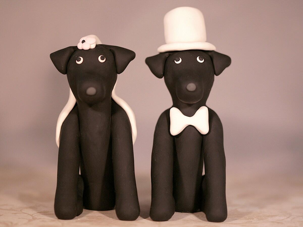 Black Lab Labrador Retriever Dog Wedding Cake Topper