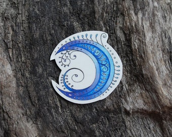 Henna Moon Temporary Tattoo - Moon Tattoo -Moon Temporary Tattoo
