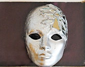 Silver and Mirrors Full Face Mask