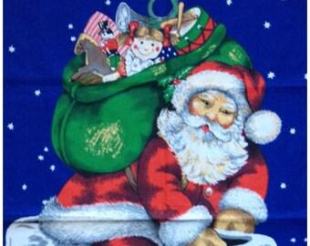 Tea Towel Vintage Father Christmas