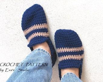 Crochet Pattern, Men's Slippers, PDF,Easy, Great for Beginners, Shoes Crochet Pattern Slippers, Pattern No. 23