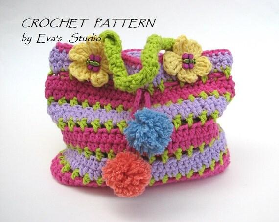 Crochet Bags For Beginners : Girls Bag / Purse, Crochet Pattern PDF,Easy, Great for Beginners ...