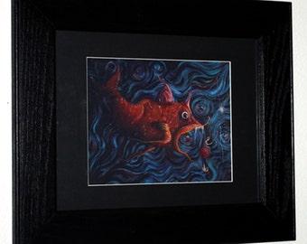 Fishing for the Fisherman, Framed Print