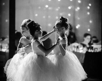 Youth Size 5 to 8 - Long Tutu Skirt - Ivory Beige Tutu  - Wedding - Ballet - Photo Shoot - Flower Girl Tutu - Bridesmaid