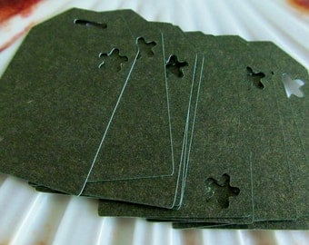 Paper tags, Metallic Green tag, gift tags 15 pieces per set