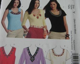 McCalls Misses Womens Shirt Top Tank  Pattern MP302 Size XS S M  4 6 8 10 12 14 Uncut UC