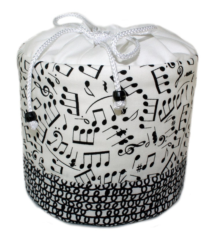 Black And White Musical Notes Toilet Paper Holder