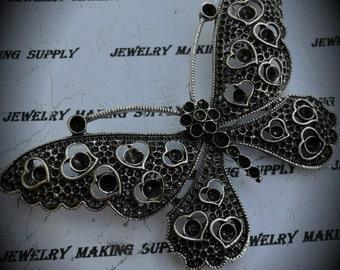 Huge Silver Butterfly Pendant