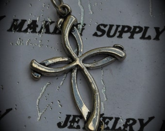 Cross Sterling Silver Plated Charm