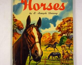 A Child's Book of Horses Children's Book - E. Joseph Dreany 1950