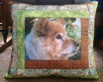 quilted photo pillow