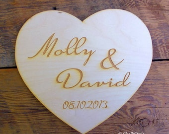Personalized Wedding Sign Customized Engagement PHOTO PRoP Large Heart Wooden Photobooth Props His and Hers Mr. and Mrs.