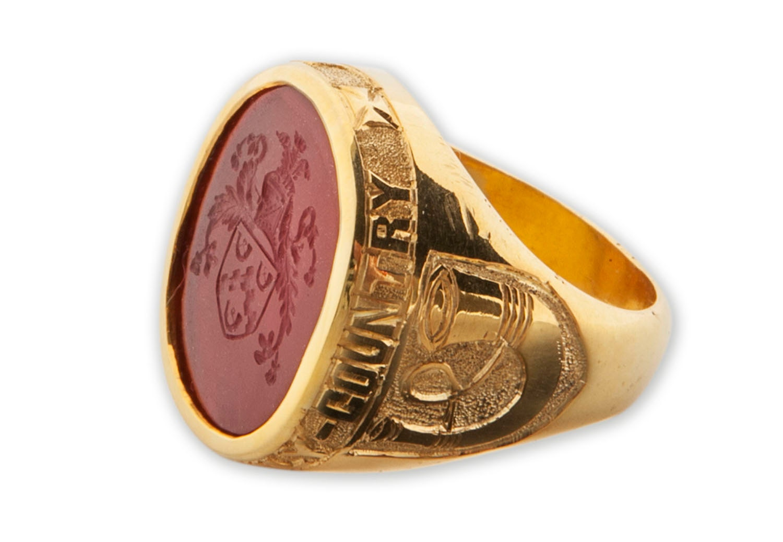 custom mens rings signet and crest gold plated sterling silver. Black Bedroom Furniture Sets. Home Design Ideas