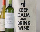 Wine Tote - Recycled Cotton Canvas - Keep Calm & Drink Wine, Black