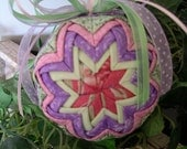 Quilted Fabric Easter Ornament