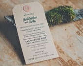 Rehearsal Dinner or Any Event / Party Invitations on Kraft Shipping Tags (More Colors)