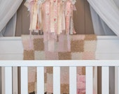 Fabric Chandelier/Mobile in Pinks and Creams, Nursery Decor, Photography Prop